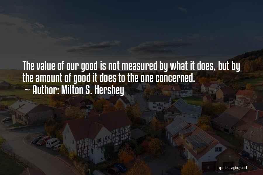 Milton S. Hershey Quotes 952275