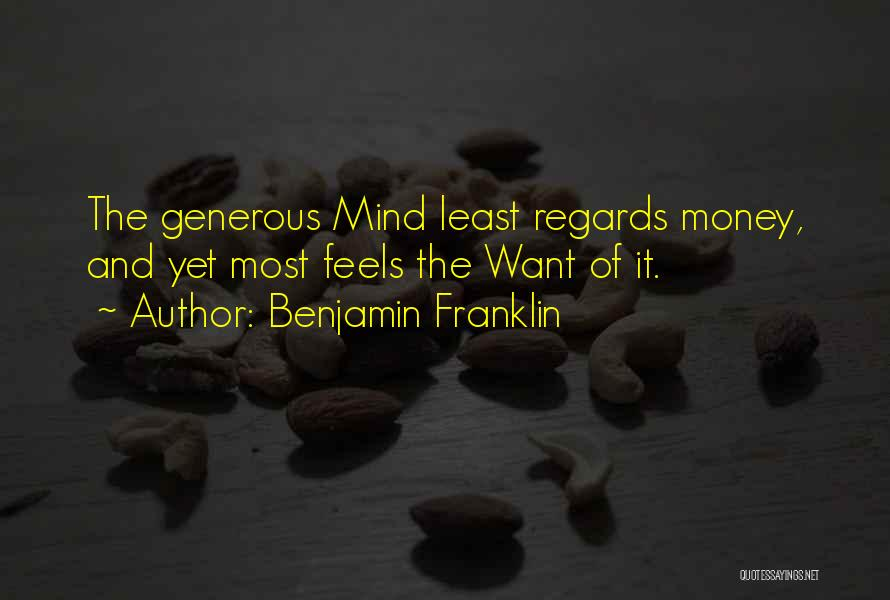 Mind And Money Quotes By Benjamin Franklin