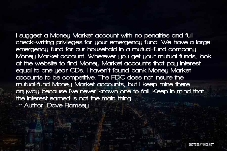 Mind And Money Quotes By Dave Ramsey