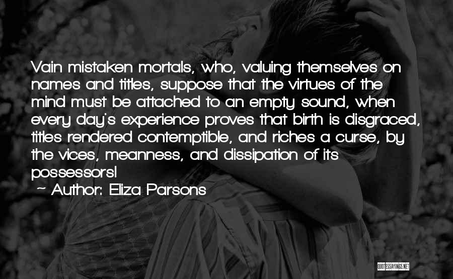 Mind And Money Quotes By Eliza Parsons