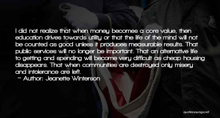 Mind And Money Quotes By Jeanette Winterson