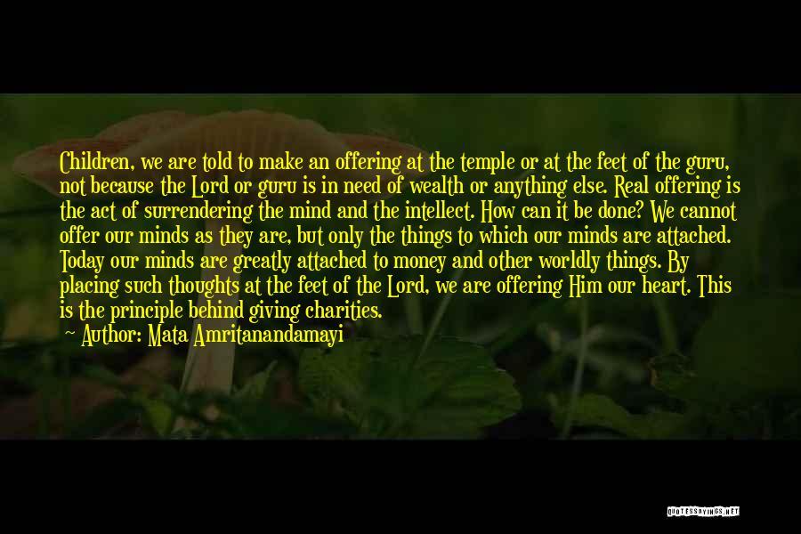 Mind And Money Quotes By Mata Amritanandamayi