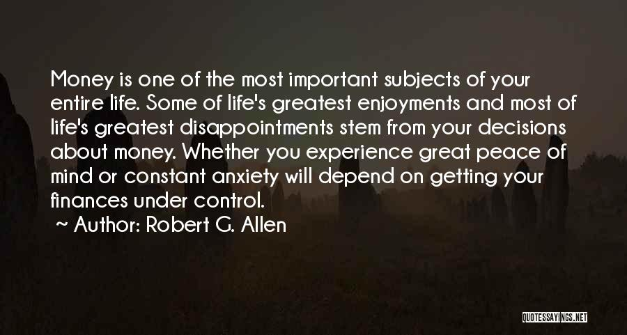 Mind And Money Quotes By Robert G. Allen