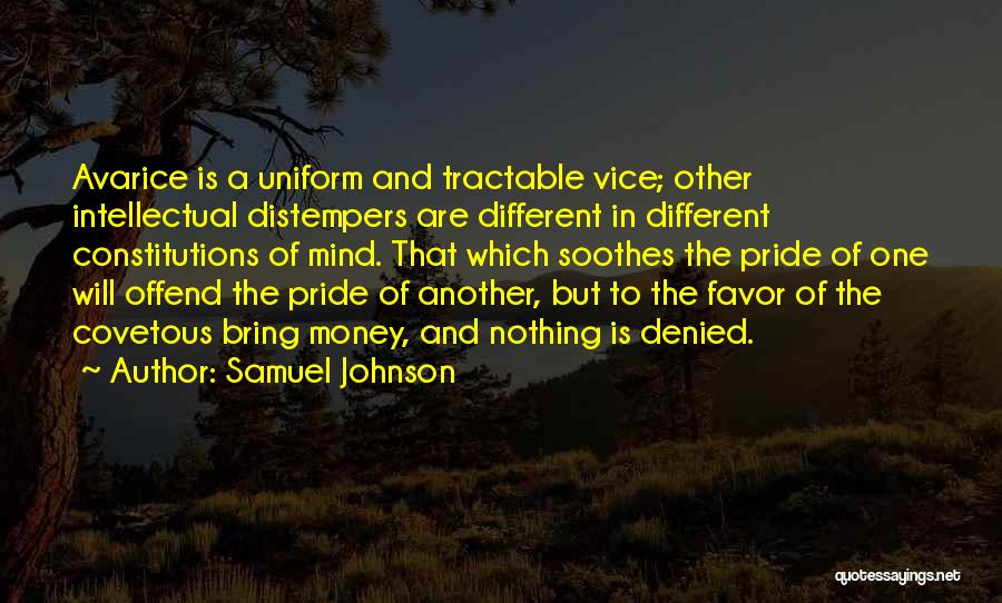 Mind And Money Quotes By Samuel Johnson