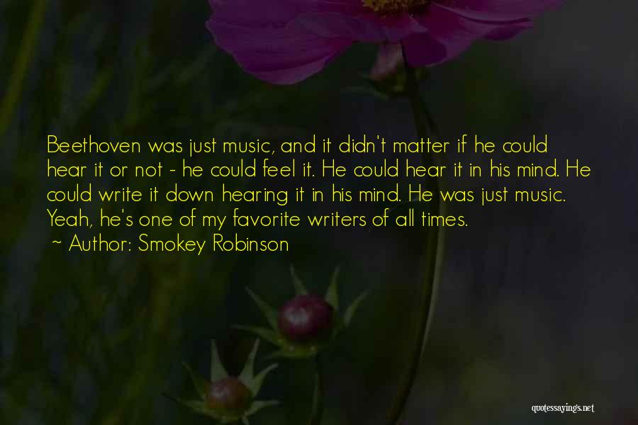 Mind And Music Quotes By Smokey Robinson