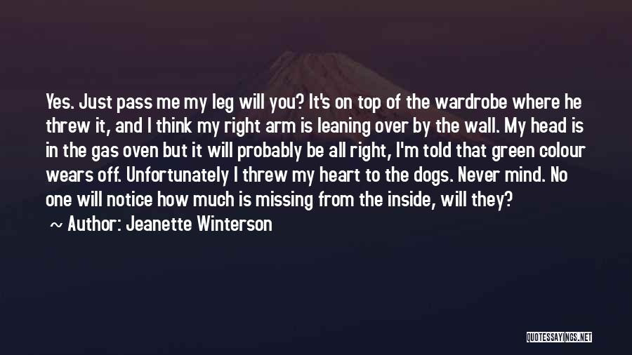 Mind Over Heart Quotes By Jeanette Winterson