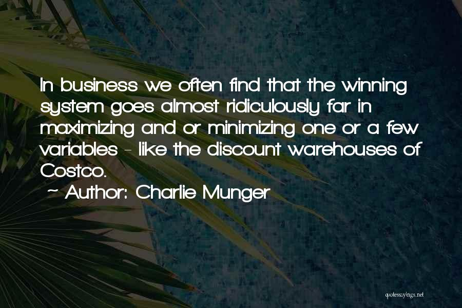 Minimizing Quotes By Charlie Munger