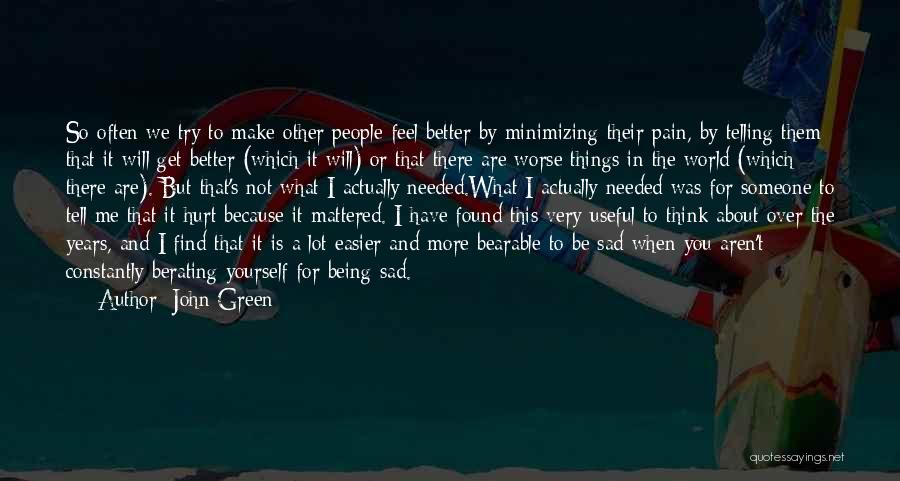 Minimizing Quotes By John Green