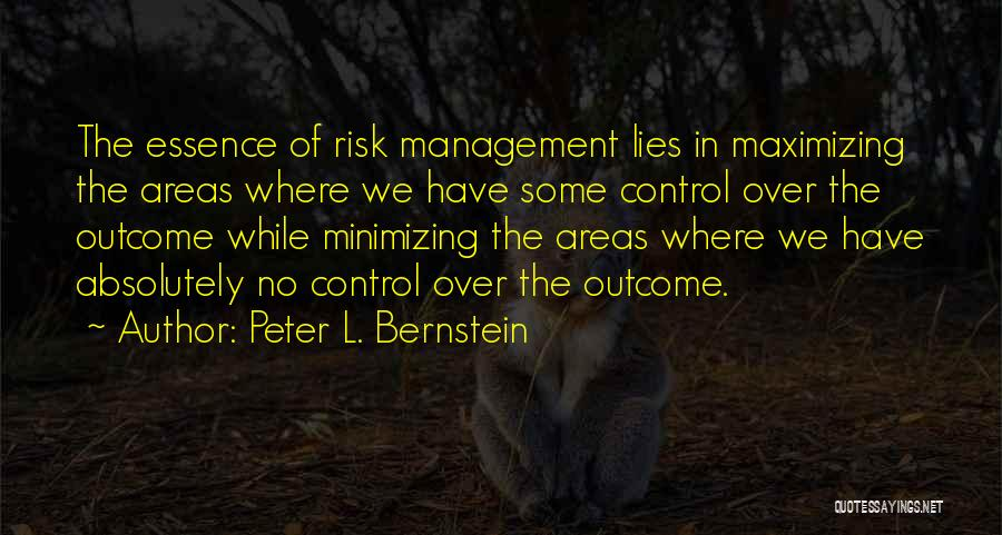 Minimizing Quotes By Peter L. Bernstein