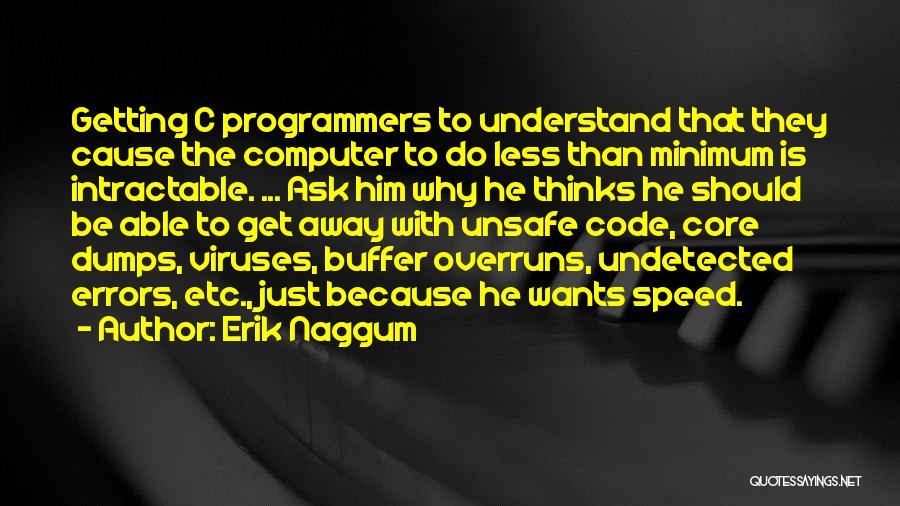 Minimum Core Quotes By Erik Naggum