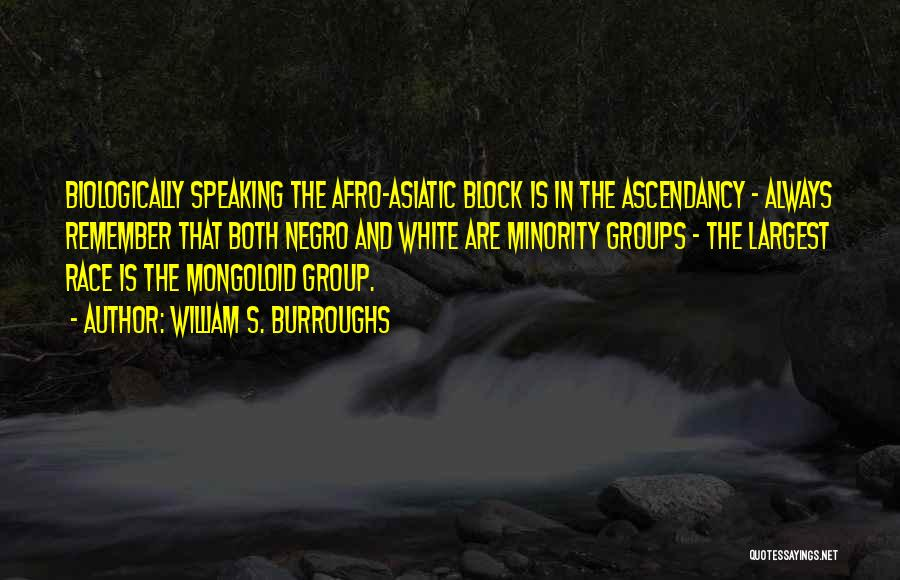 Minority Groups Quotes By William S. Burroughs