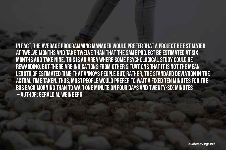 Minute Manager Quotes By Gerald M. Weinberg