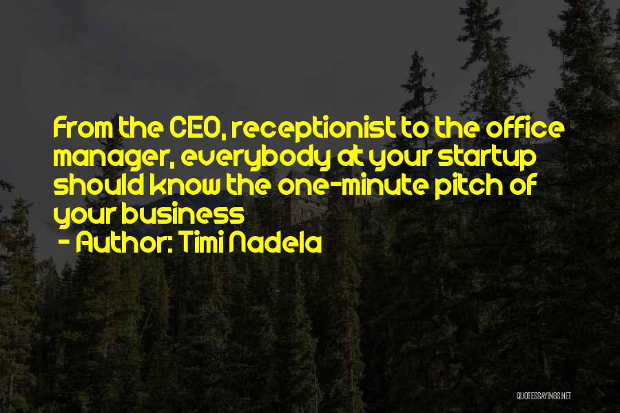 Minute Manager Quotes By Timi Nadela