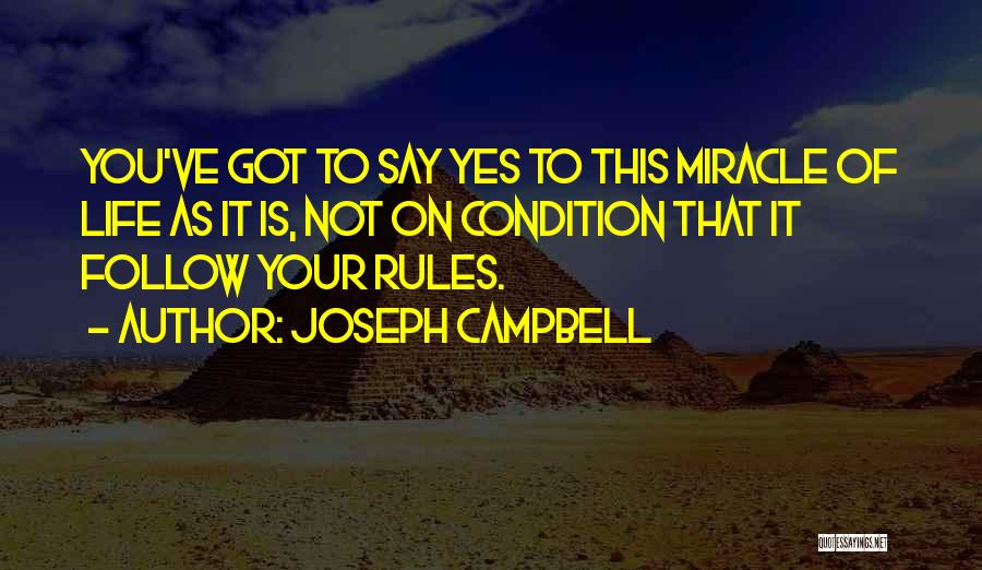 Miracle Of Life Quotes By Joseph Campbell