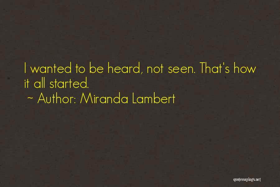 Miranda Lambert Quotes 1420604