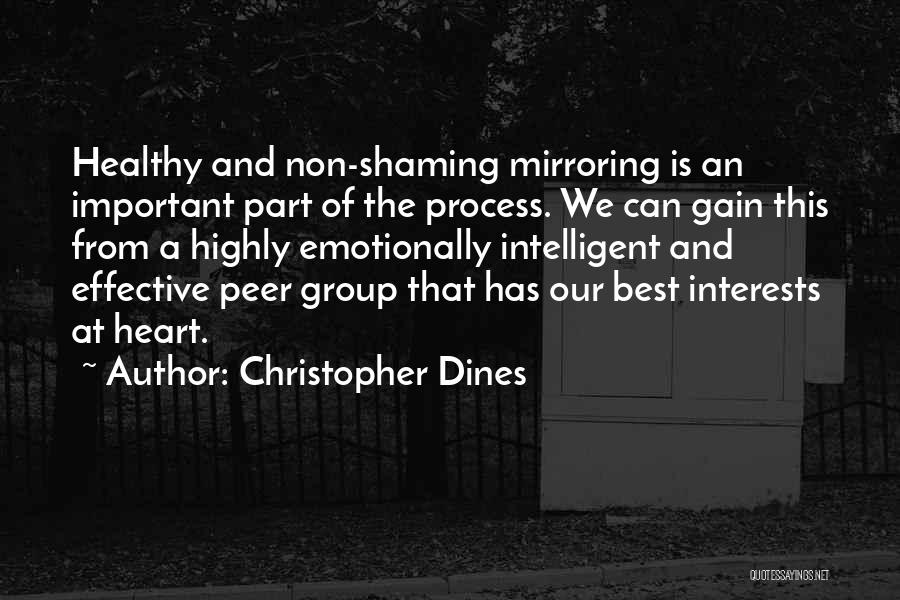 Mirroring Yourself Quotes By Christopher Dines
