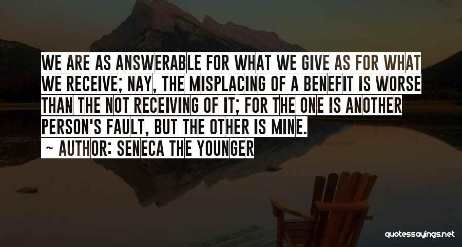 Misplacing Things Quotes By Seneca The Younger