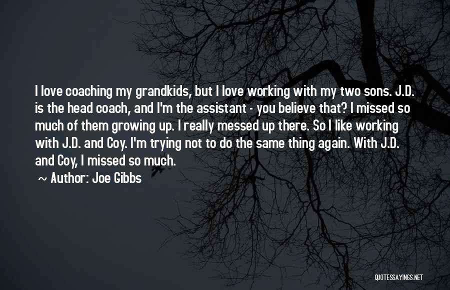 Missed My Love Quotes By Joe Gibbs