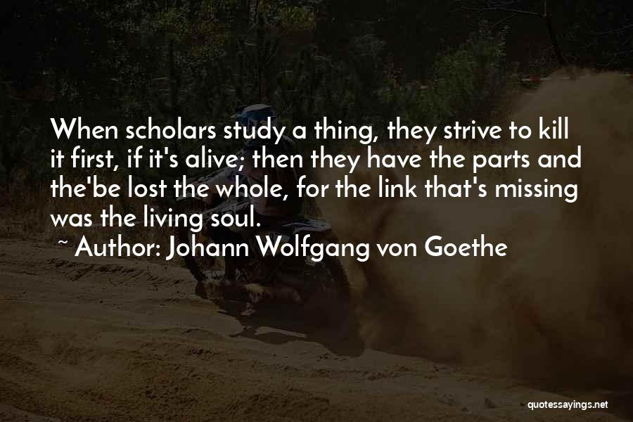 Missing Lost Ones Quotes By Johann Wolfgang Von Goethe