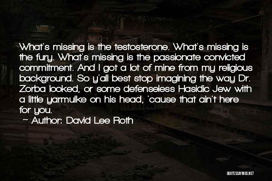 Missing Lot Quotes By David Lee Roth