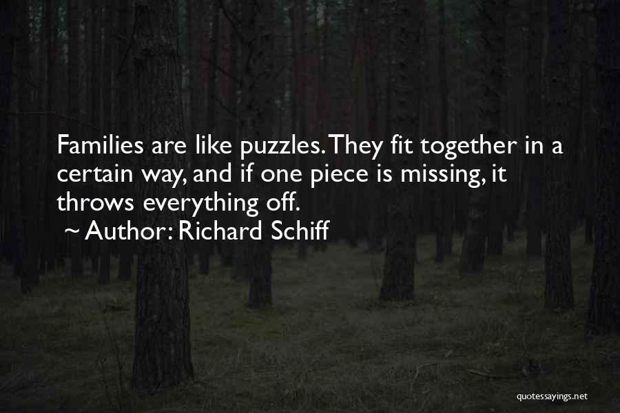 Missing Puzzles Quotes By Richard Schiff