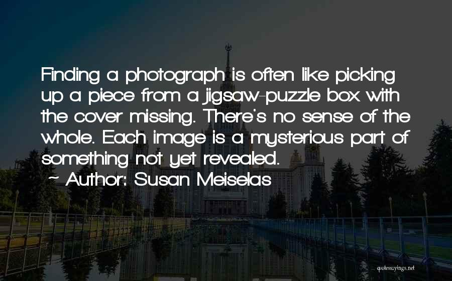Missing Puzzles Quotes By Susan Meiselas