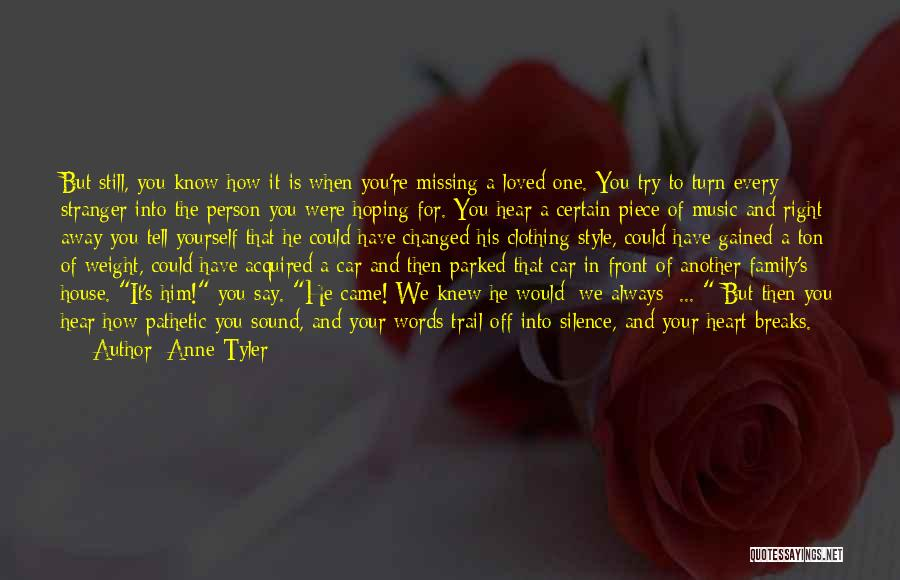 Missing What's In Front Of You Quotes By Anne Tyler