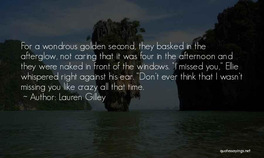 Missing What's In Front Of You Quotes By Lauren Gilley