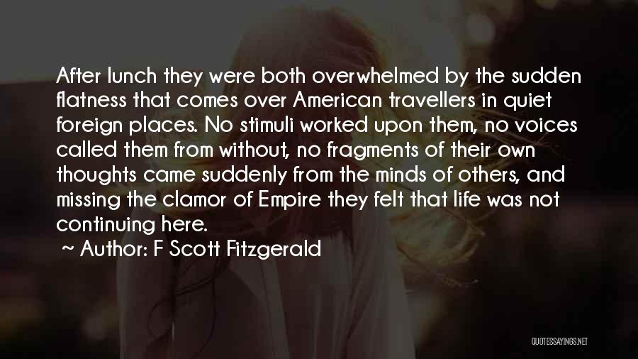 Missing You Thoughts Quotes By F Scott Fitzgerald