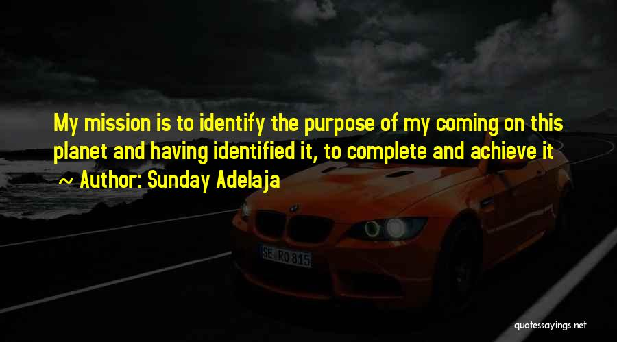 Mission And Purpose Quotes By Sunday Adelaja