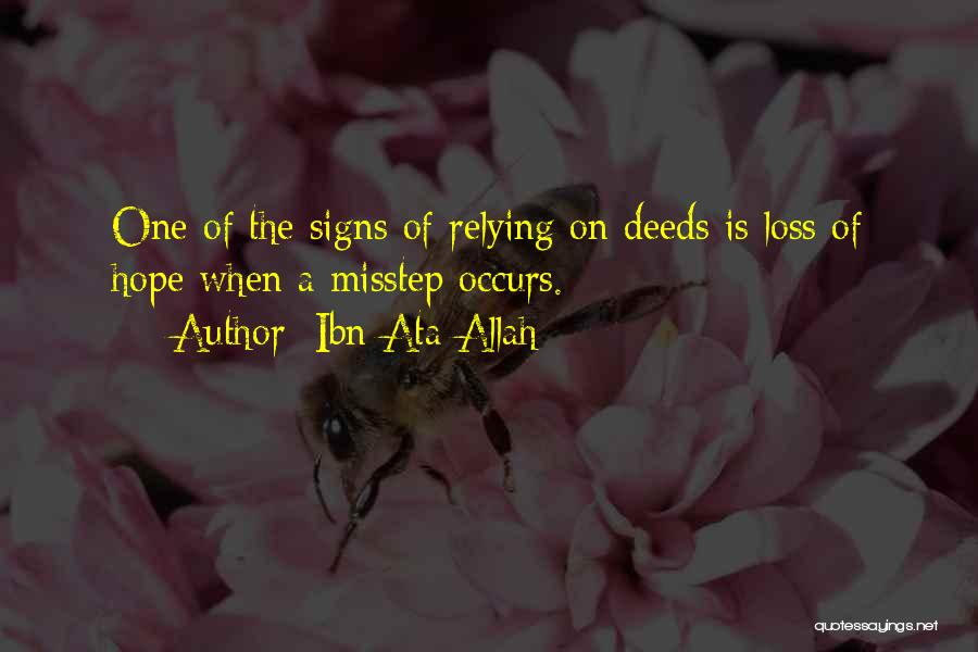 Misstep Quotes By Ibn Ata Allah