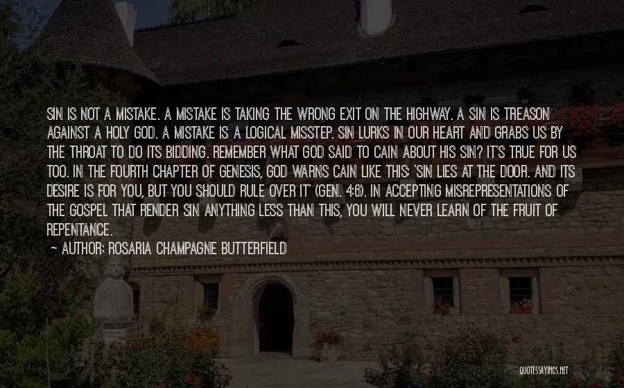 Misstep Quotes By Rosaria Champagne Butterfield