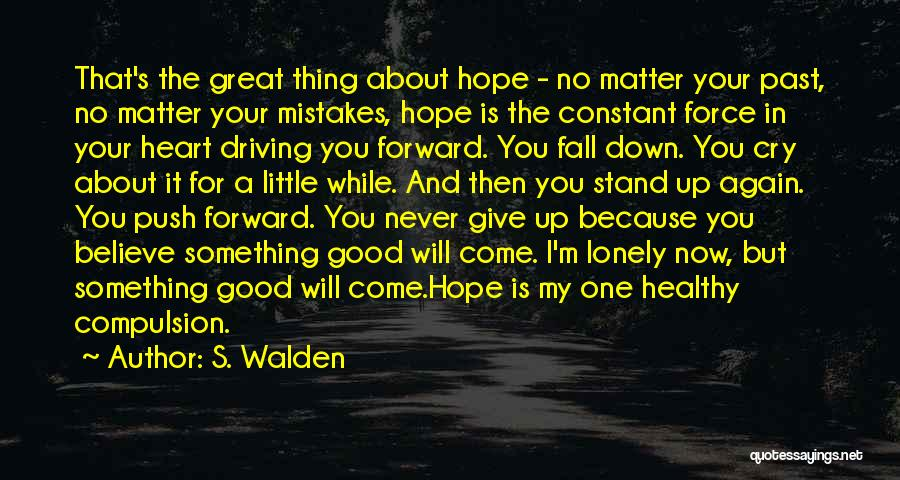 Mistakes In Your Past Quotes By S. Walden