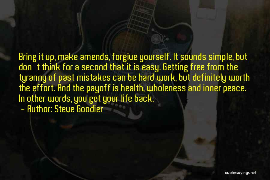 Mistakes In Your Past Quotes By Steve Goodier