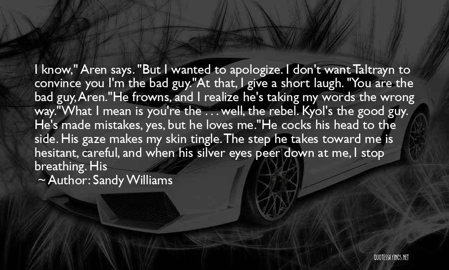 Mistakes Made In Love Quotes By Sandy Williams
