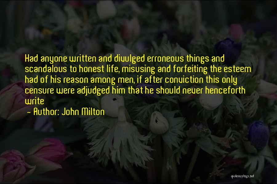 Misusing Quotes By John Milton