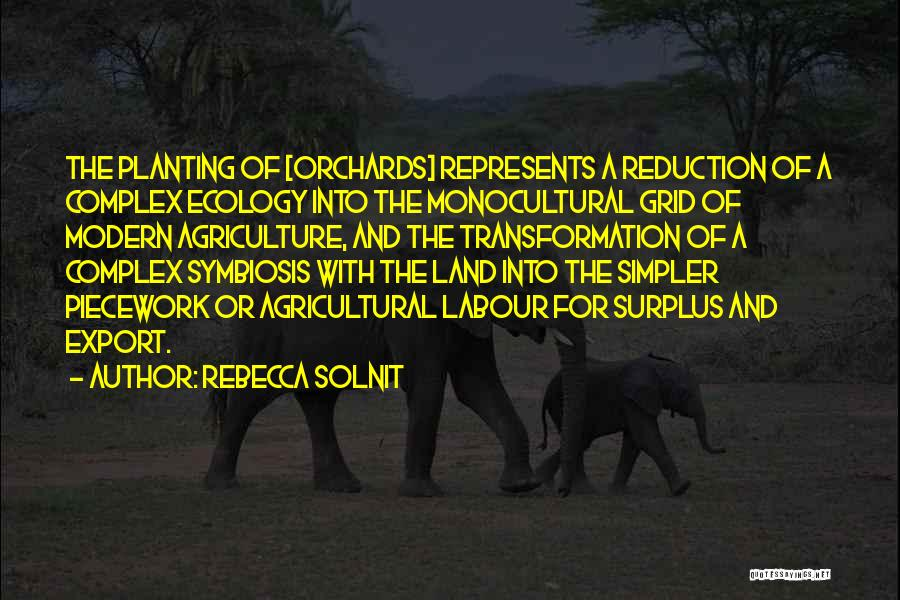 Modern Agriculture Quotes By Rebecca Solnit