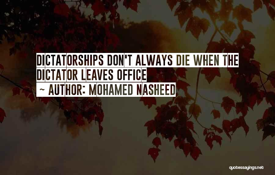 Mohamed Nasheed Quotes 238059