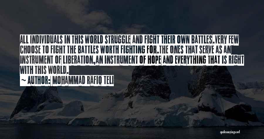 Mohammad Rafiq Teli Quotes 1001090