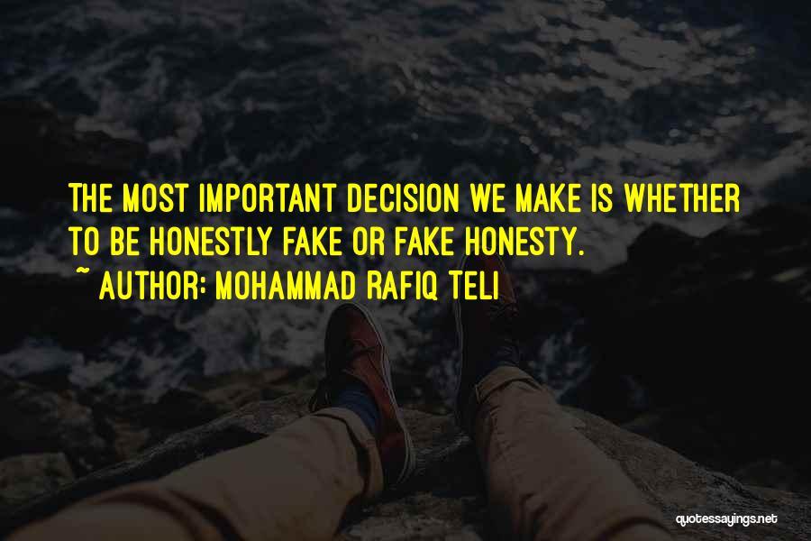 Mohammad Rafiq Teli Quotes 995495