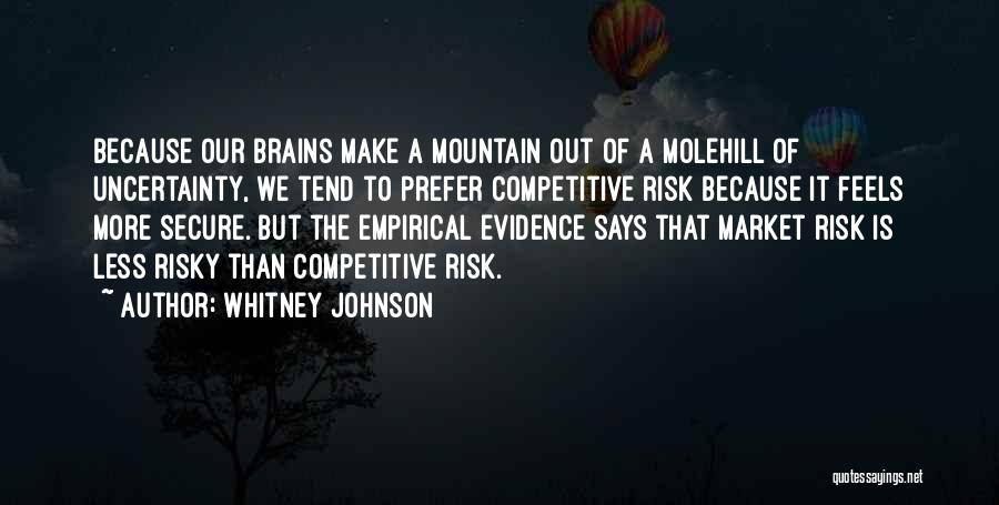 Molehill Quotes By Whitney Johnson