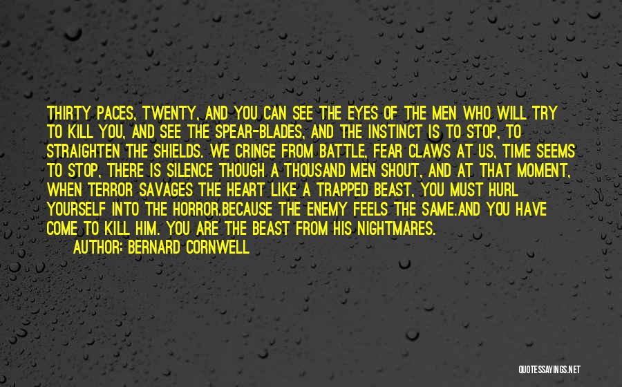 Moment Of Silence Quotes By Bernard Cornwell