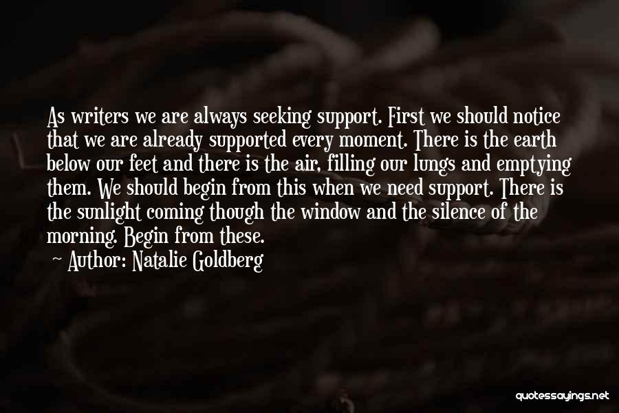 Moment Of Silence Quotes By Natalie Goldberg
