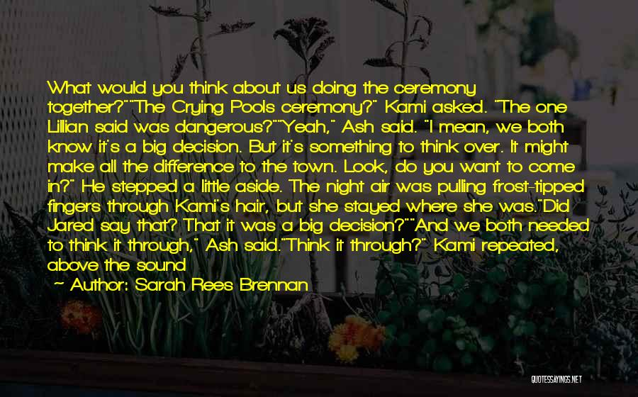Moment Of Silence Quotes By Sarah Rees Brennan