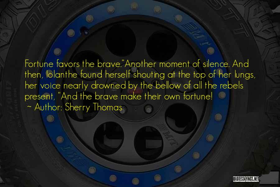 Moment Of Silence Quotes By Sherry Thomas