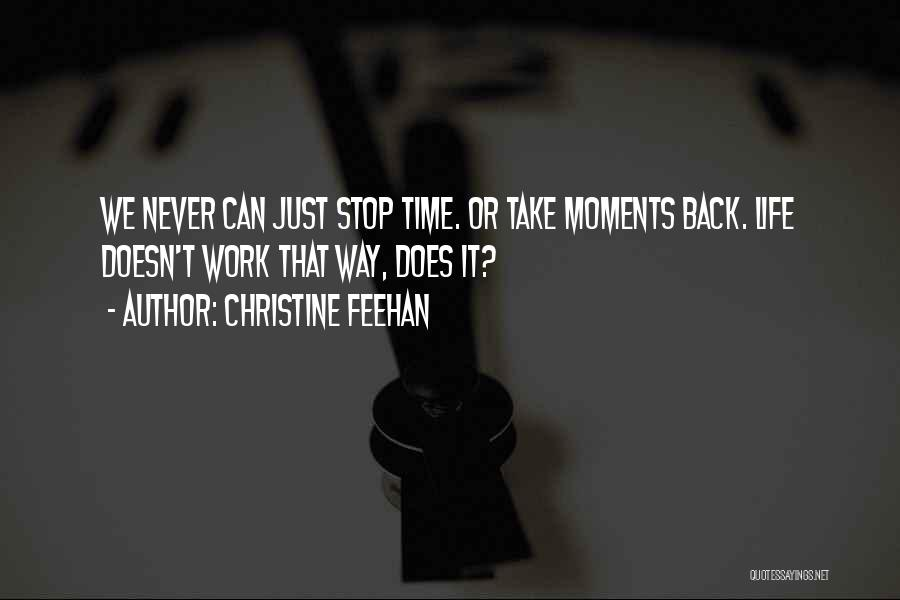 Moments Never Come Back Quotes By Christine Feehan