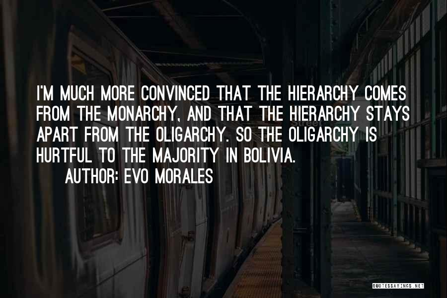 Monarchy Quotes By Evo Morales