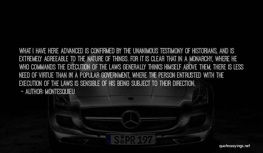 Monarchy Quotes By Montesquieu