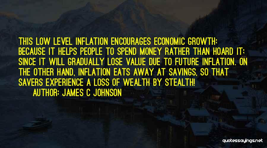 Money Helps Quotes By James C Johnson