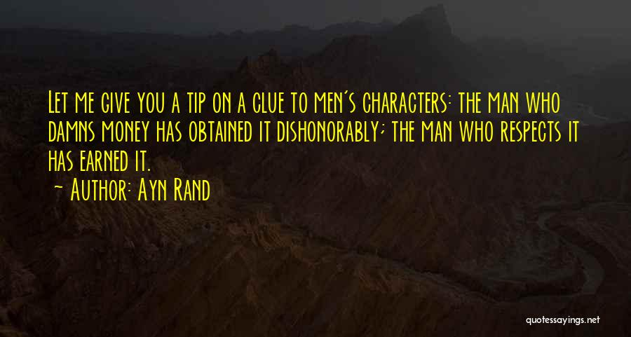 Money Tip Quotes By Ayn Rand